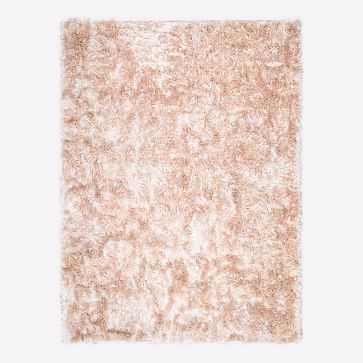 Glam Shag Rug, Rose Gold, 8'x10' - West Elm