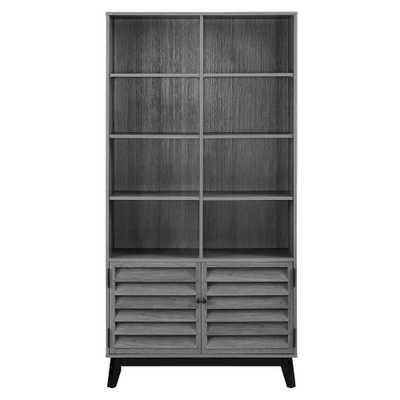 Gammon Gray Oak Bookcase - Home Depot