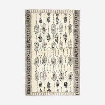 Royal Grid Shag Rug, Platinum, 5'x8' - West Elm