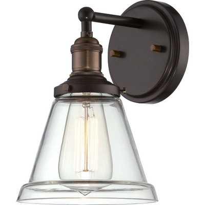 Filament Design Glomar 1-Light Rustic Bronze Incandescent Sconce - Home Depot