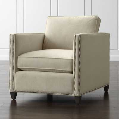Dryden Chair with Nailheads - View Wheat - Crate and Barrel
