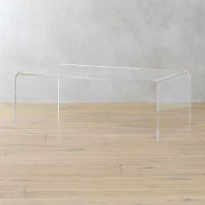 peekaboo acrylic coffee table - CB2