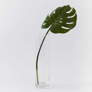 Faux Green Monstera Plant Leaf - West Elm