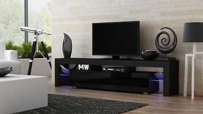 """Orren Ellis Ranallo TV Stand for TVs up to 88"""": Black/Black - eBay"""
