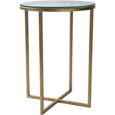 Kolten Modern Gold End Table - Wayfair