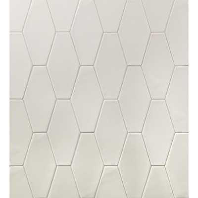 Splashback Tile Birmingham Hexagon Dove Gray 4 in. x 8 in. 8mm Polished Ceramic Subway Tile (5.38 sq. ft. / box), Light Gray - Home Depot