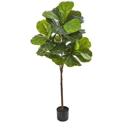 Nearly Natural 54 in. Fiddle Leaf Artificial Tree (Real Touch) - Home Depot