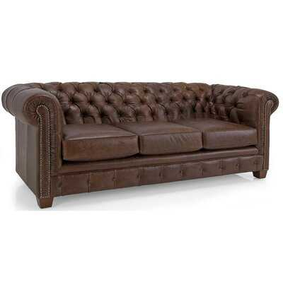 Melany Tufted Leather Chesterfield Sofa - Wayfair