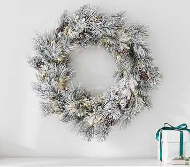 Frosted Pine Cone Wreath - Pottery Barn Kids