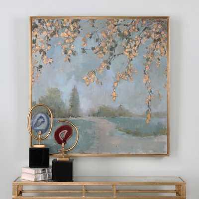 'Peaceful Landscape Art' Picture Frame Print on Canvas - Birch Lane