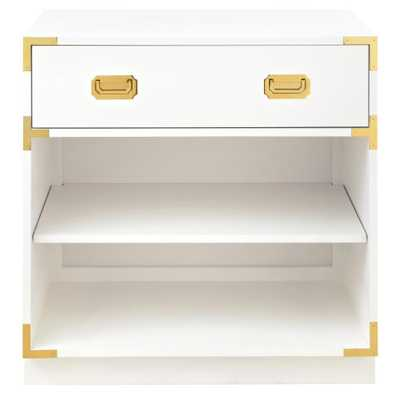 Chatham 1-Drawer White Nightstand - Home Depot