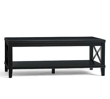 Cassie Coffee Table, Black - Pottery Barn