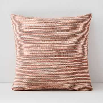 "Silk Ombre Striations Pillow Cover, 20""x20"", Papaya - West Elm"