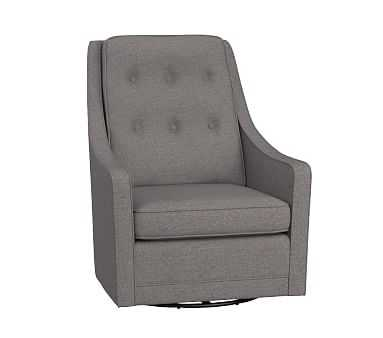 Asher Swivel Glider, Brushed Crossweave Charcoal (A) - Pottery Barn Kids