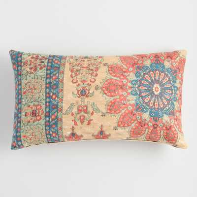 Oversized Coral Vintage Rug Lumbar Pillow by World Market - World Market/Cost Plus