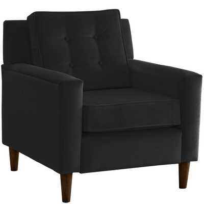 Skyline Furniture Hdc Velvet Black Arm Chair - Home Depot