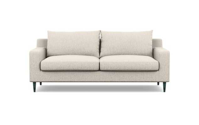 Sloan Sofa with Wheat Fabric and Unfinished GunMetal legs - Interior Define