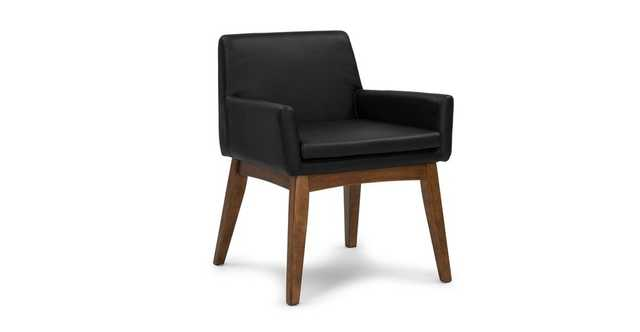 Chanel Black Leather Dining Armchair (Sold as Pair) - Article