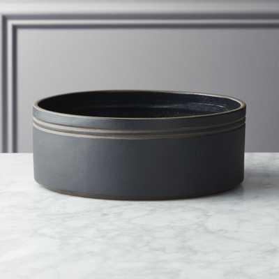 Pitch Round Black Serving Bowl - CB2
