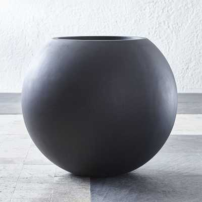 Sphere Large Dark Grey Planter - Crate and Barrel