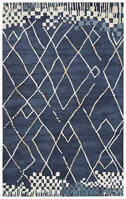 Rizzy Rugs Blue Diamonds Tufted Blocks Contemporary Area Rug Geometric MF010B: 8' x 10' - eBay