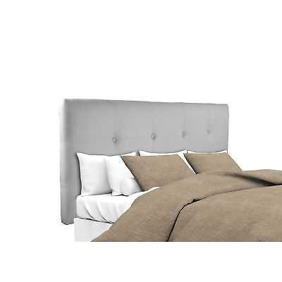MJL Furniture Ali Button Tufted Silver Grey Upholstered Headboard: Queen - eBay