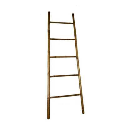 MGP 7 ft. H 5-Bar Ladder Rack Hand-crafted with Solid Bamboo (Green) - Home Depot