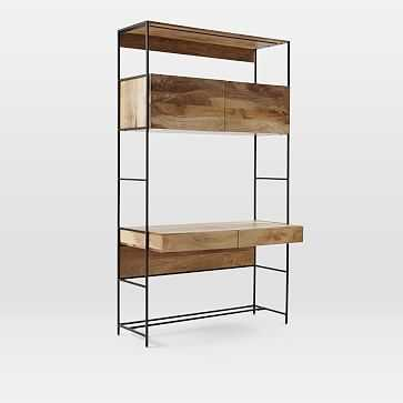 "Industrial Storage Modular System- 49"" Desk - West Elm"