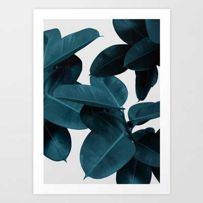 Indigo Plant Leaves Art Print - Large by Printsproject - Society6