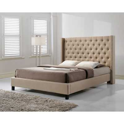 Pacifica Beige King Upholstered Bed - Home Depot