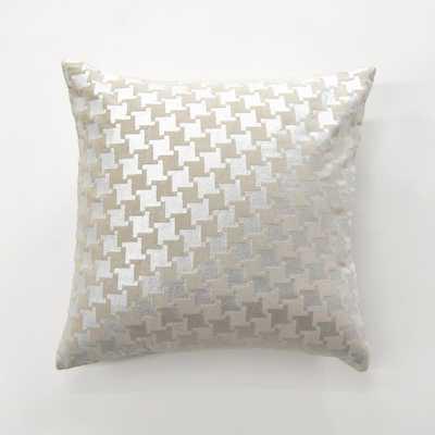 Metallic Houndstooth Velvet Pillow, Metallics - Home Depot