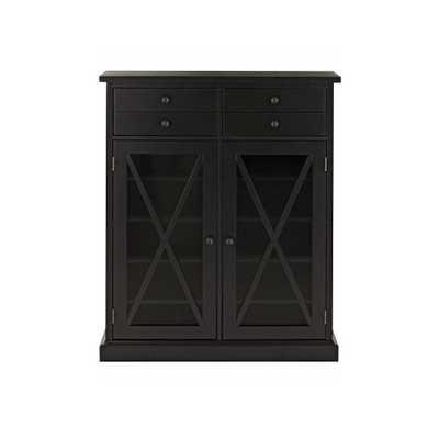 Hampton Black Storage Cabinet - Home Depot