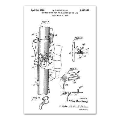 'Vintage Clarinet Patent' Graphic Art Print on Canvas - Wayfair