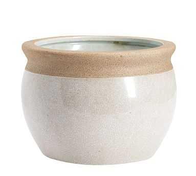 Crackle Cachepot, Ivory - Large - Pottery Barn