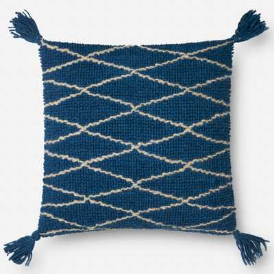 "PILLOWS - BLUE - 22"" X 22"" Cover Only - Loma Threads"