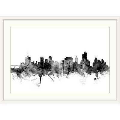 'Tulsa Oklahoma Skyline' Watercolor Painting Print - Wayfair