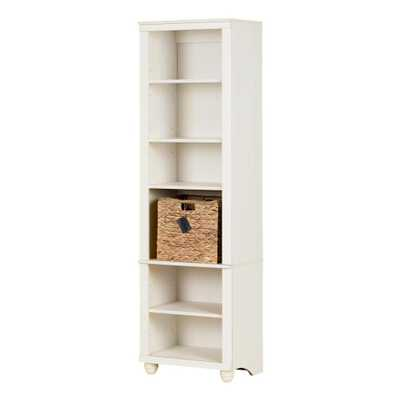 Hopedale White Wash and Beige 6-Shelf Bookcase - Home Depot