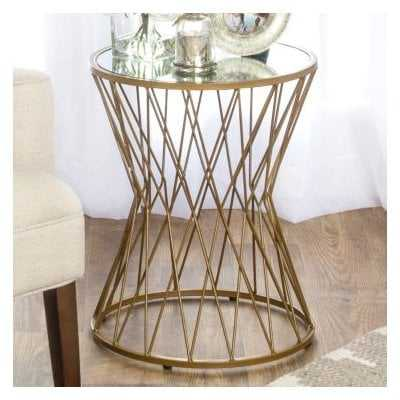 Carpendale Hourglass Metal End Table - AllModern
