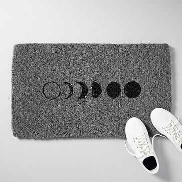 "Moon Phase Doormat, Grey, 18""x30"" - West Elm"