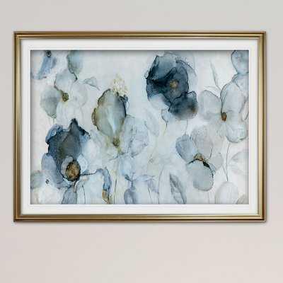 'Flowering Indigo' Framed Acrylic Painting Print - Wayfair
