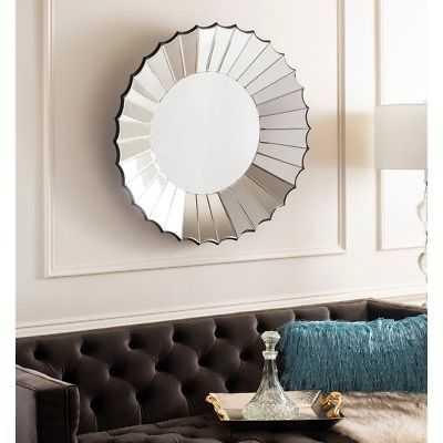 Safavieh Denby 32-inch Round Silver Sunburst Mirror - 32.3' x 3.9' x 32.3' - eBay