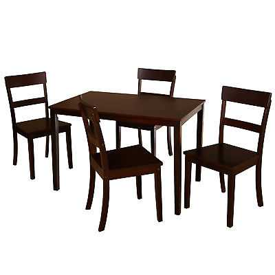 Winston Porter Beacher 5 Piece Dining Set: Espresso - eBay