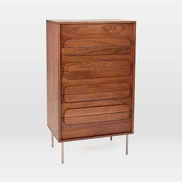 Gemini 5-Drawer Dresser, Walnut - West Elm
