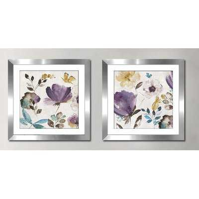 'Quixotic II' 2 Piece Framed Watercolor Painting Print Set - Wayfair