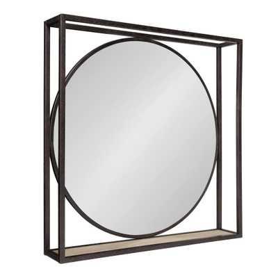McCauley Square Black Wall Mirror - Home Depot