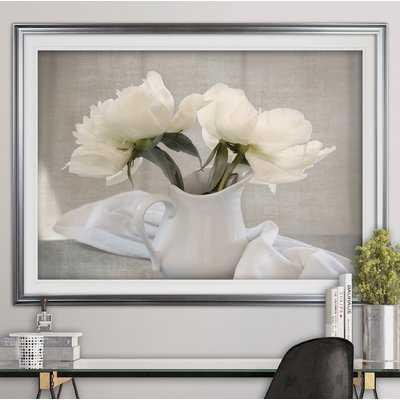 'Farmhouse Blooms' Framed Acrylic Painting Print - Wayfair