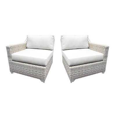 Ansonia Patio Loveseat with Cushions - Wayfair
