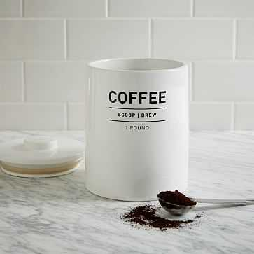 Utility Coffee Canister, White - West Elm
