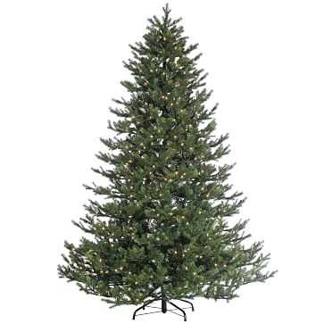 Faux Natural Cut Rockford Pine Tree With Clear Lights - Small - West Elm
