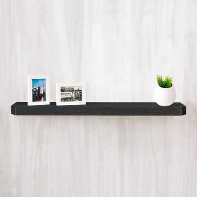 Uniq 35.4 in. W x 1.6 in. D Black Wood Grain zBoard Floating Wall Shelf and Decorative Shelf - Home Depot